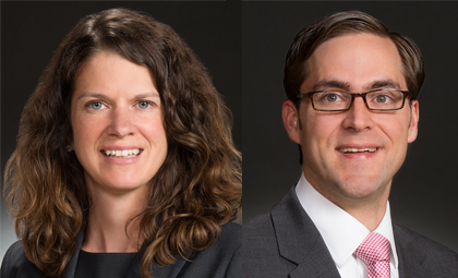 Wheeler Trigg O'Donnell attorneys Katie Reilly and Nick Boeving