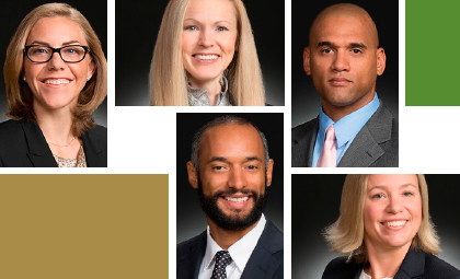 WTO associates Laura McNabb, Kate Mercer-Lawson, Shawn Neal, Pawan Nelson, and Randy Robinson