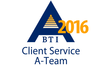 WTO named to BTI Consulting Group Client Service A-Team 2016 list